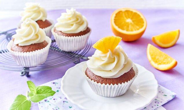Babeczki z kremem mascarpone i pomarańczą