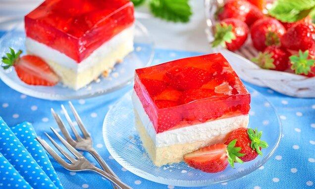 Ciasto z owocami i galaretką