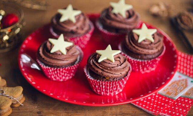 Babeczki czekoladowa gwiazda