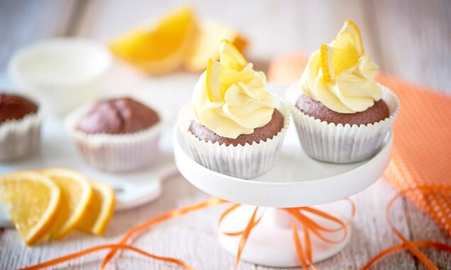 Babeczki czekoladowe z pomarańczami